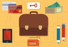 Acessórios de viagens de vetores de design plano gratuitos
