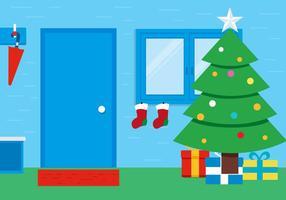 Fundo de sala de Natal do vetor livre