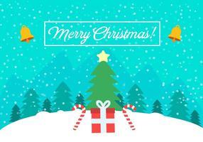 Paisagem de Natal com vetor grátis