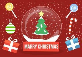 Free Christmas Christmas Snow Globe vetor