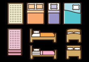 Ícones de vetor de colchão
