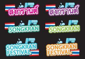 Títulos de Songkran vetor