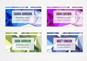 Cartões de visita geométricos coloridos do vetor livre
