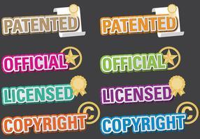 Títulos patenteados vetor