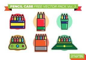 Estojo para lápis livre pacote vetorial vol. 3 vetor