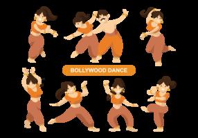 Vetor indiano de dança bollywood