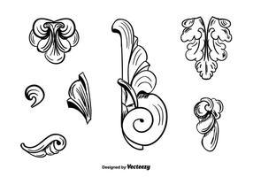 Ornamentos vintage vetor