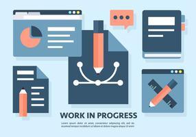 Ilustração em Vetor do Trabalho em andamento grátis