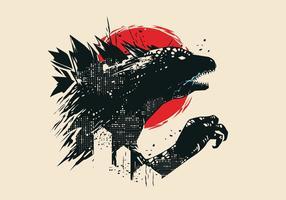 Logotipo do vetor Godzilla