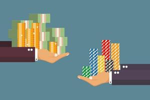 trocar dinheiro por fichas de casino