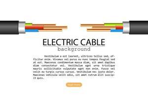 dois cabos elétricos isolados no branco