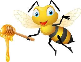 desenho bonito de abelha vetor
