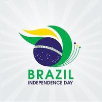 desenho do dia da independência do brasil com a cor da bandeira vetor