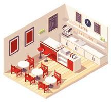 composição isométrica de cafeteria vetor