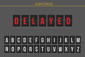 informação de voo atrasado vetor