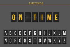 informações de voo pontual vetor