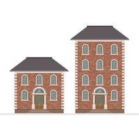 construção de casa isolada vetor