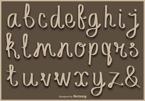 Letra manuscrita minúscula Alfabeto de vetores