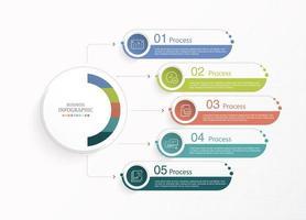 círculo infográficos de negócios