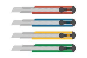 cortadores de caixa colorida vetor