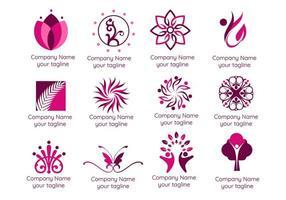 logotipos de spa e terapia vetor
