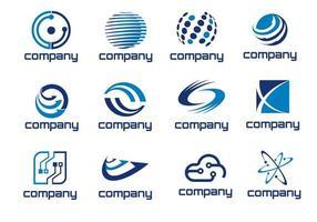logotipos abstratos de tecnologia vetor