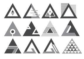ícones de logotipo de triângulo vetor