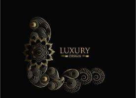 luxuoso design decorativo dourado vetor