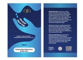 antiviral álcool etílico desinfetante gel de mão para coronavírus vetor