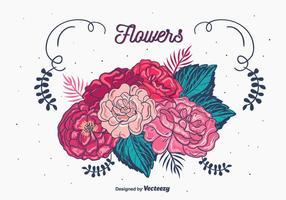 Vetor de buquê floral