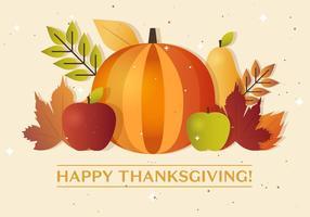 Dia das Ações de Graças Abóbora do vetor de outono