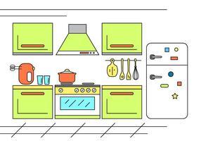 Iluminação gratuita da cozinha vetor