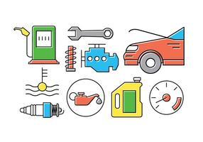 Ícones de vetor de carro