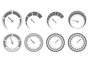 Conjunto de ícones Tacômetro vetor