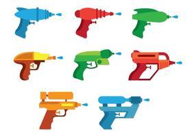 Conjunto De Ícones De Armas De Água vetor