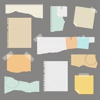 conjunto de papel rasgado vetor