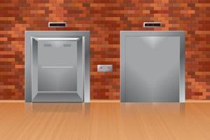 elevadores abertos e fechados vetor