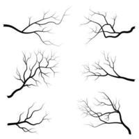 conjunto de galho de árvore vetor
