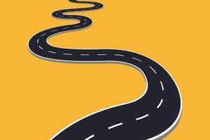 estrada rodoviária isolada vetor