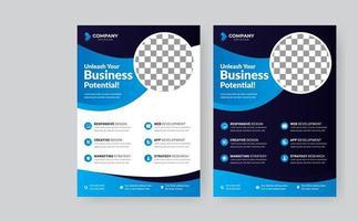 panfleto de negócios corporativos conjunto de panfletos vetor