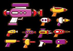 Desenhos animados de arma laser vetor