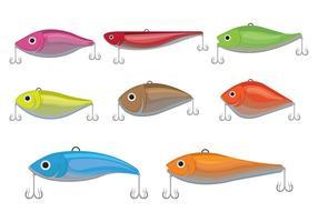 Ícones do vetor Lure da pesca