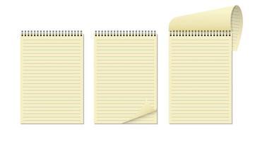 caderno realista isolado vetor
