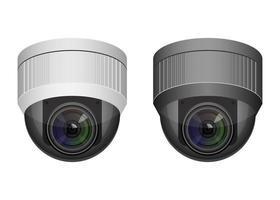 câmeras de vigilância isoladas vetor
