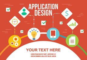Infografia gratuita de vetores de aplicação