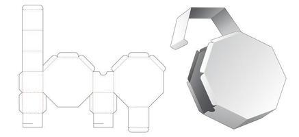 Caixa de embalagem octogonal de 1 peça vetor