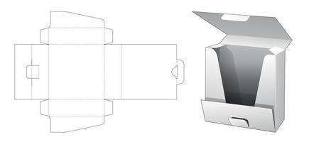 Caixa de embalagem de camisa de 1 peça vetor
