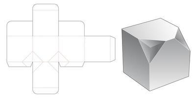 Caixa quadrada com 2 cantos chanfrados vetor