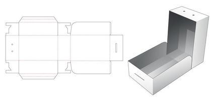 Caixa de embalagem de 1 peça com furo para corda vetor