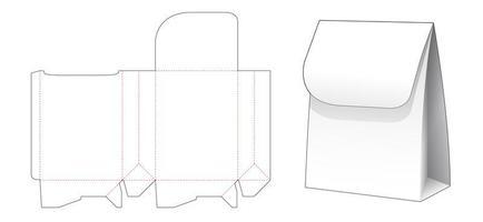sacola de compras de papel com flip superior vetor